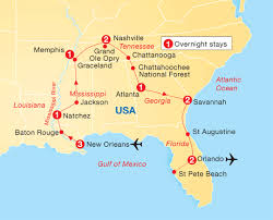 louisiana florida map map usa new orleans major tourist attractions maps