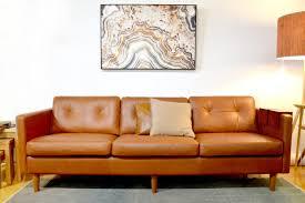 Leather Sofas Perth Svensen Retro Mid Century Aniline Leather Sofa Bespoke