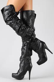 s high boots platform thigh high knee heel boot qupid nelson 83