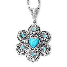 natural stone necklace pendant images New natural stone necklaces crystal flower necklace jewelry jpg