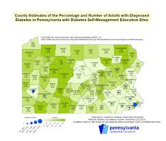 Pennsylvania County Map by Pennsylvania Department Of Health