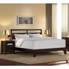 large modern low profile king bed frame made from wood painted