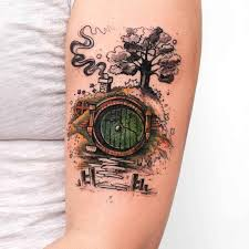 house of hobbit tattoo on arm best tattoo ideas gallery