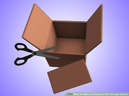 How To Make A Cardboard Chair How To Make A Cardboard Box Storage System 4 Steps