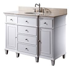 Avanity Windsor Single Inch Transitional Bathroom Vanity White - White 48 inch bath vanity