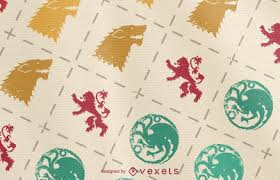 of thrones wrapping paper lilies and palm leaves pattern vector