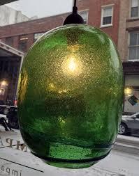 Green Glass Pendant Light Blown Green Glass Pendant Light Largeimpact Imports
