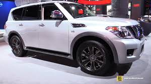 2017 nissan armada platinum interior 2017 nissan armada platinum exterior and interior walkaround