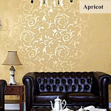 Home Wallpaper Decor by 10mx53cm Wallpaper Rolls Silver Golden Apricot Luxury Embossed