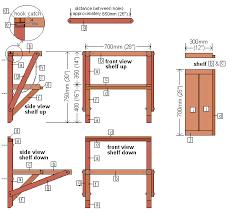 Folding Work Bench Design DIY Blueprint Plans Download Shaker - Work table design plans