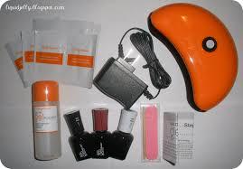 liquid jelly sally hansen gel polish starter kit review
