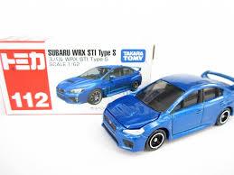 subaru lebanon takara tomy tomica 112 subaru wrx sti type s blue scale 1 62