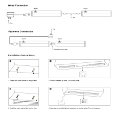 how to hook up head and cabinet s g led under cabinet light bar t5 integrated single fixture