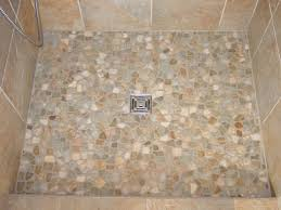 master bath pebble tile shower floor purchased at a big box
