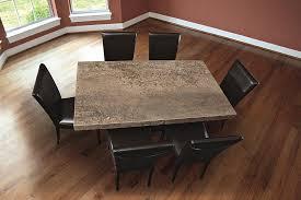 Travertine Dining Table Stone International 8046 M Dining Table Rectangle Walnut