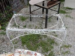 Antique Wrought Iron Patio Furniture by Charming French Wrought Iron Garden Table Large Look For Sale