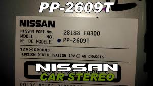 nissan x trail car stereo cd changer pp 2609t clarion youtube