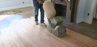sanding pine floors at the kuppersmith project house