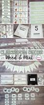 shiplap wood and mint themed classroom decor sara j creations