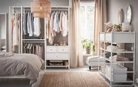 Ikea Gjora Bed Bedroom Brusali Bed Frame With Storage Boxes White Sfdark