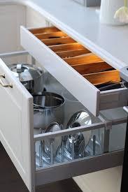 ikea kitchen organization ideas ikea sektion kitchen pots pans lids and cooking utensil storage