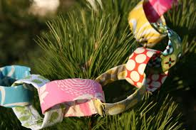 fitf time to decorate a paper fabric chain tutorial in