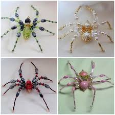 diy beaded spiders great tutorial on how to make these insects