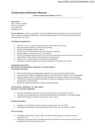 Construction Superintendent Resume Sample Construction Estimator Resume Sample Free Resume Example And
