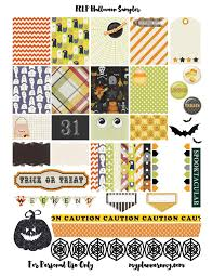Free Printable Halloween Sheets by Free Printable Halloween Sampler Planner Stickers Pdf Jpg And