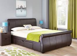 Faux Bed Frame Santino Black Faux Leather Bed Frame 180cm Beds Pinterest