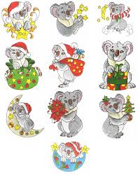 christmas koalas out 054 18 00 outbackembroidery extensive