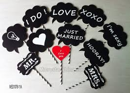 wedding photo props 11pcs wedding photo booth props favors party diy write on a stick