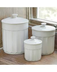 white kitchen canisters sets amazing fall savings on chefs stoneware kitchen canister set 3