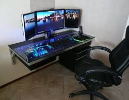 Gaming Station Computer Desk Gaming Station Computer Desk Better Gaming Desk Pinterest