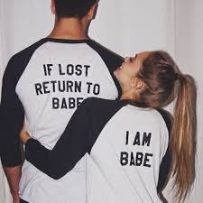 his and hers items his and hers baseball tees if lost return to by hubsandhers