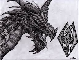 collection skyrim dragon drawings related