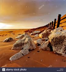 Light Up Rocks by Summer Sunset Crosby Beach Merseyside White Rocks Picking Up The