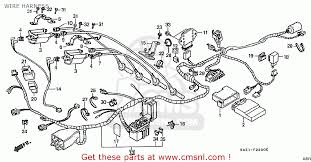 honda cbr250rr mc22 1994 r japan wire harness schematic partsfiche