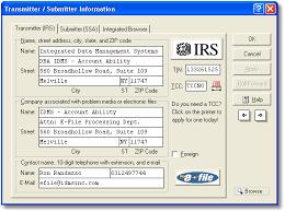 irs transmitter information