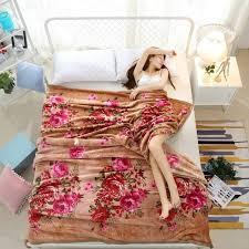 drap canap chinois style fleurs impression couverture polaire doux drap