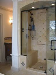 Baths And Showers Chic Stand Up Shower Glass Door Bathroom Gorgeous White Bathroom