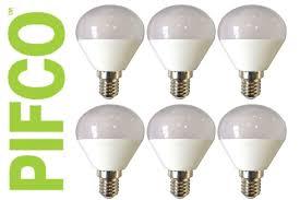 6 x pifco led candle gu10 gls golf ses es b22 light bulbs various