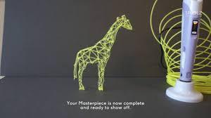 how to make a 3d giraffe using a 3d pen download a free stencil