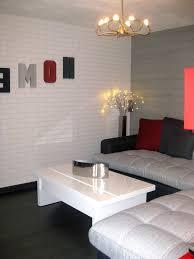 chambre avec mur en chambre brique blanche avec meilleur mobilier et d coration luxe