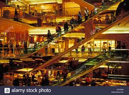 escalators in lobby of trump tower building on 5th avenue mid town