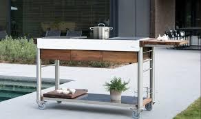 cuisine de jardin en meuble de cuisine exterieur table rabattable cuisine meuble