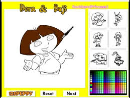 dora explorer coloring pages kids dora explorer