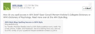apa style blog facebook