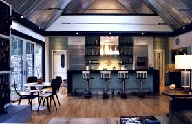 industrial styled kitchen looks roomy and cozy and ahhh i would