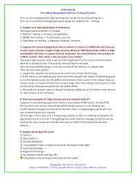 Manual Testing Sample Resumes by Manual Testing Interview Question By Infotech